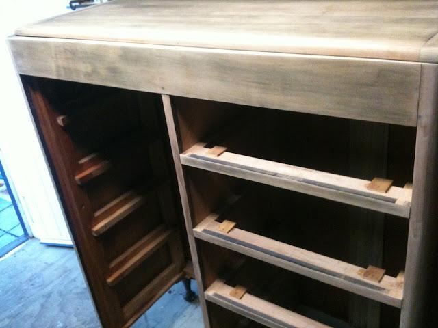 manrobe restoration sanded chest