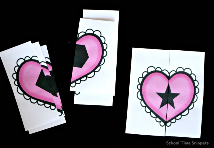 printable heart shape puzzles