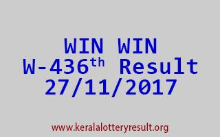 WIN WIN Lottery W 436 Results 27-11-2017