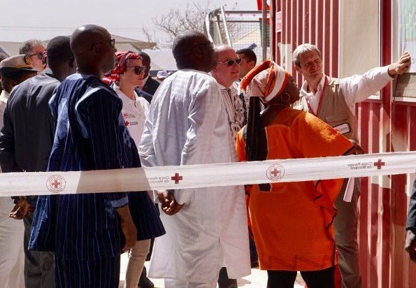 Prince Albert II and Princess Charlene opened Loumbila Vocational Education Center in Oubritenga. Burkina Faso Red Cross and Principality of Monaco