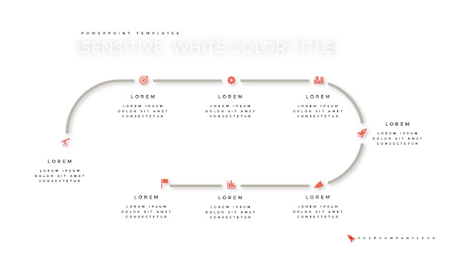 History of Premium PowerPoint Template with Whit Title