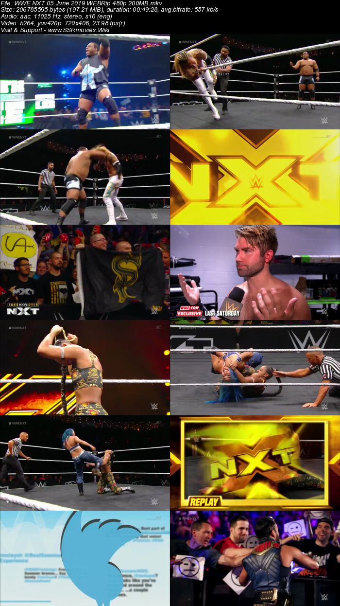 WWE NXT 5 June 2019 HDTV 480p Full Show Download