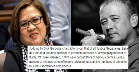 Ateneo alumnus accuses De Lima of using GCTA law to raise election campaign funds after data shows she released 8,932 prisoners when she was SOJ? | PTN