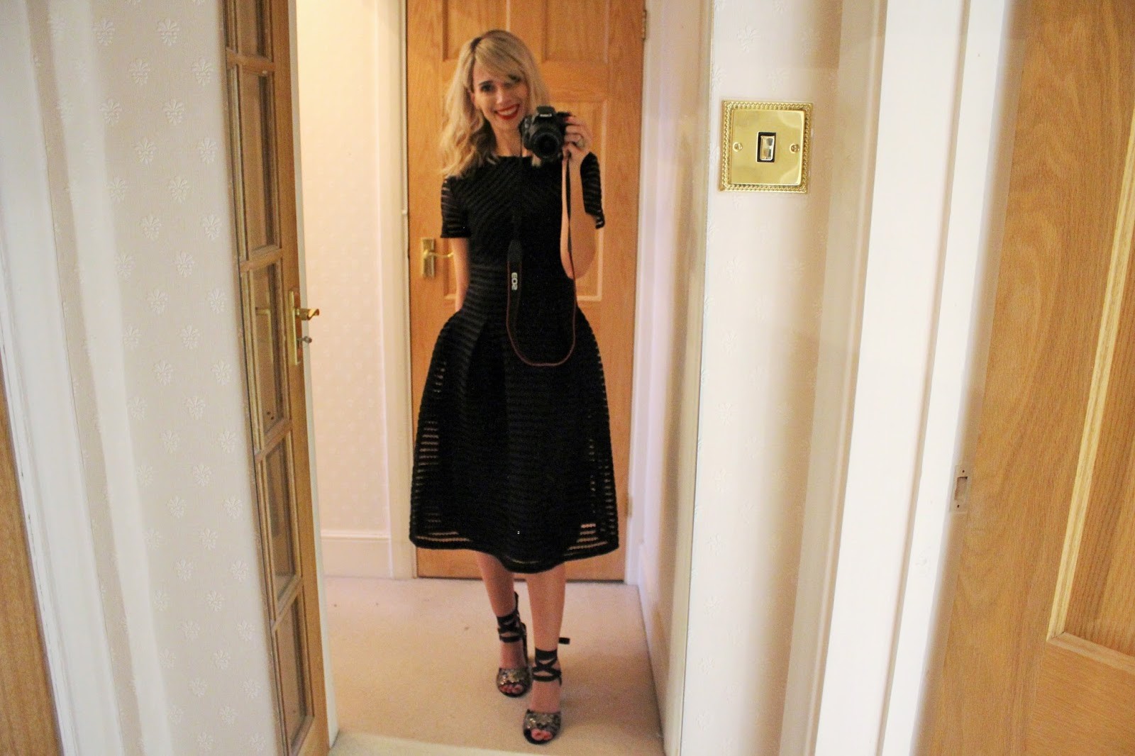 Boohoo Christmas Party After Party 12 - OOTN featuring Boohoo Dress, Topshop Shoes