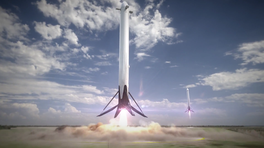 Space X plans to land these rockets at Cape Canaveral instead of on an ocean platform