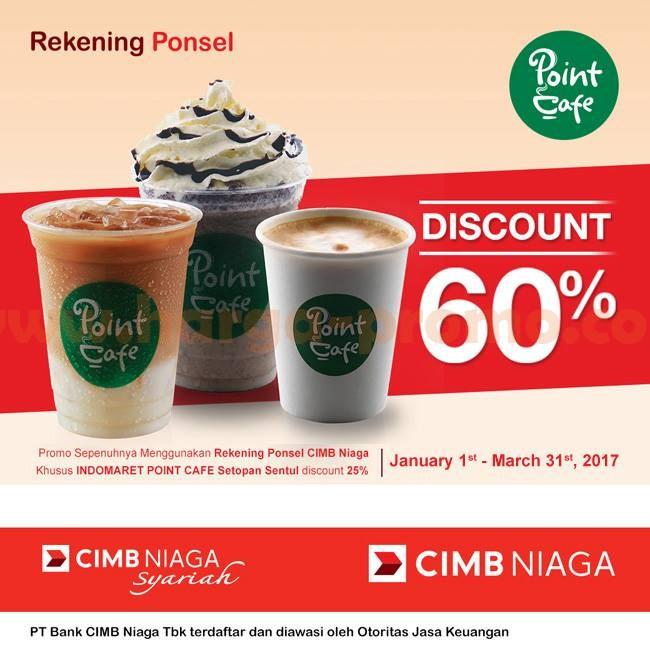 Promo Indomaret Point Cafe Extra Diskon 60% Hingga 31 Maret 2017