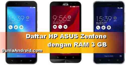 Daftar HP ASUS RAM 3 GB