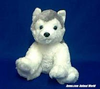 Siberian Husky Plush Stuffed Animal Toy Sammy