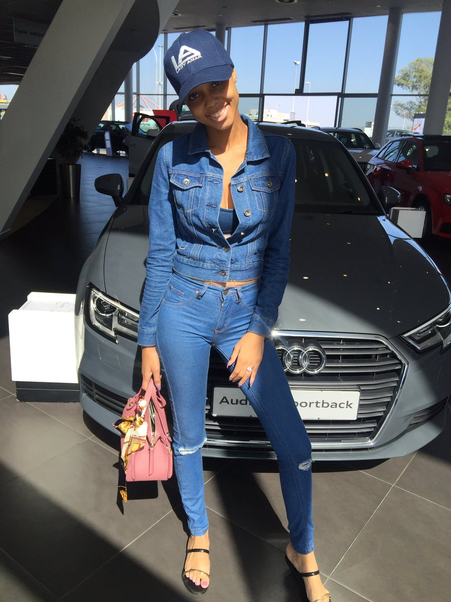 21 Year Old Ntando Duma Blesses Herself With A New Car Audi A3