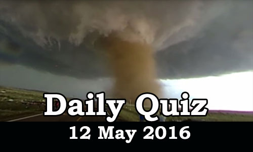 Daily Current Affairs Quiz - 12 May 2016