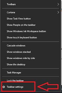 Cara Mengatur Kombinasi Taksbar di Windows 10