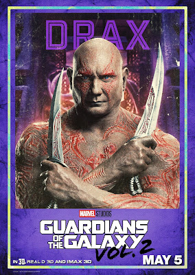 Drax Guardians of the Galaxy Vol 2 character poster
