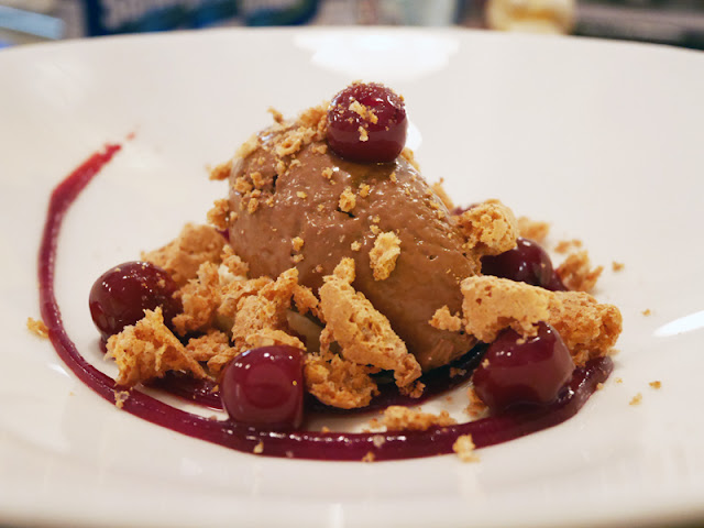 Cin Cin Brighton chocolate cremosa with morello cherries