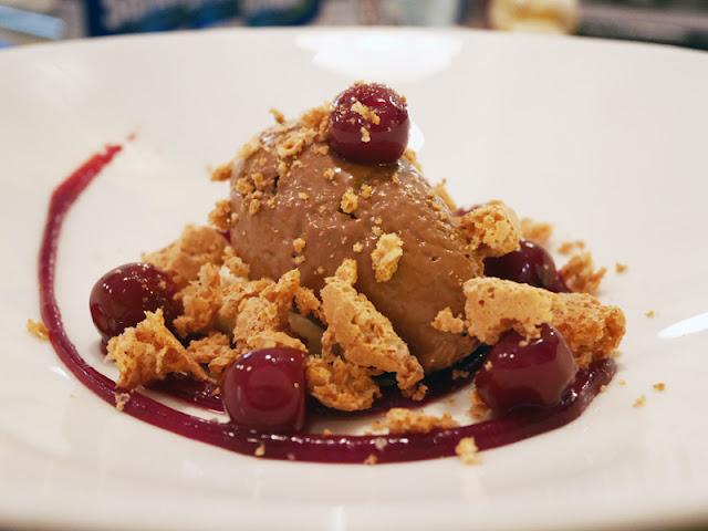 Cin Cin Brighton chocolate cremosa with morello cherries