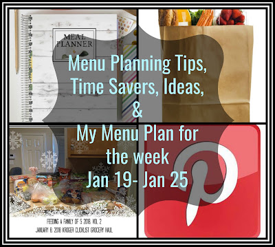 Sheila Plan's Saturday : Menu Planning Tips, Ideas, and my plan for the week