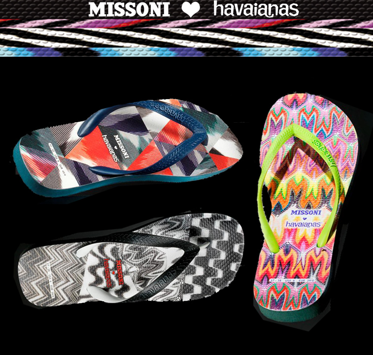 2f0c732d1de8e MISSONI Loves HAVAIANAS New 2012 Spring Capsule Collection Now Available