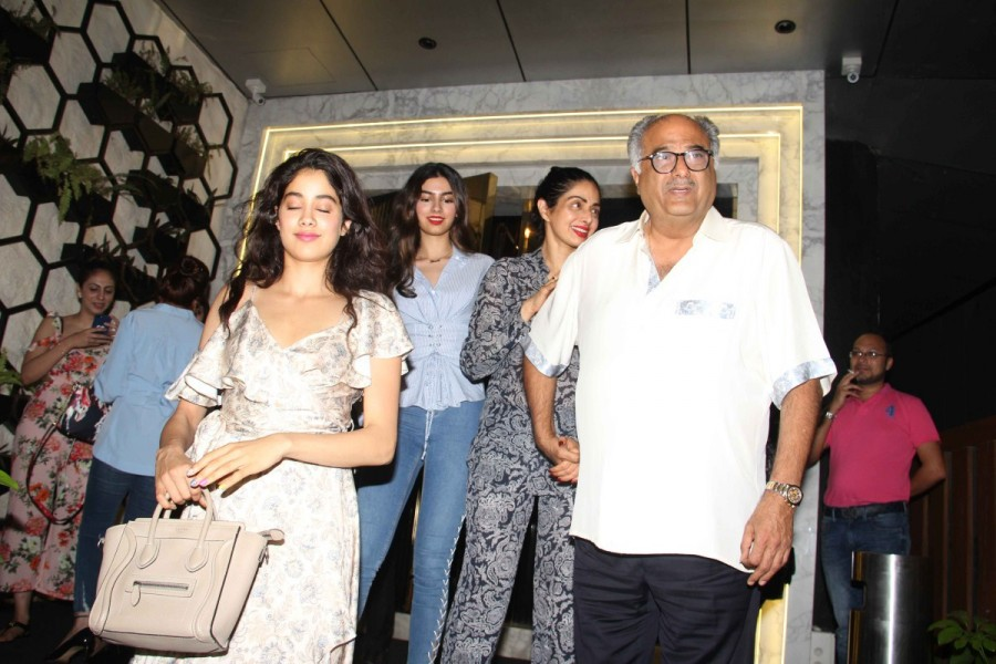 Actress Sridevi Celebrates Her Birthday with Family