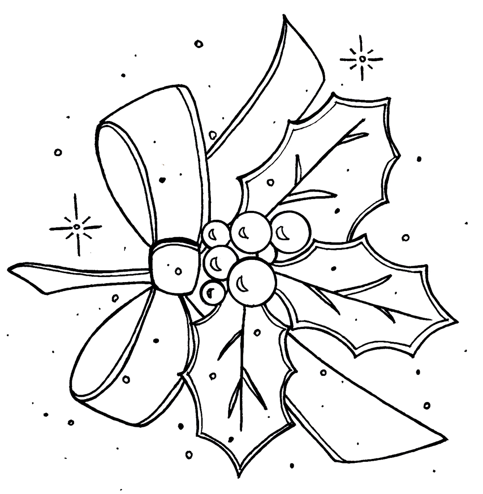 berries coloring pages - holly berry pages coloring pages