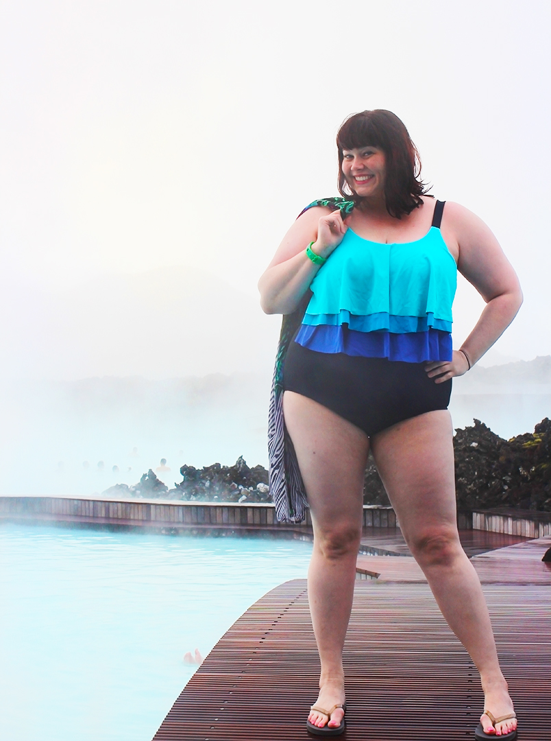 plus size blogger, Avenue Plus, plus size swimsuit, blue lagoon, iceland, spa, geothermal pool