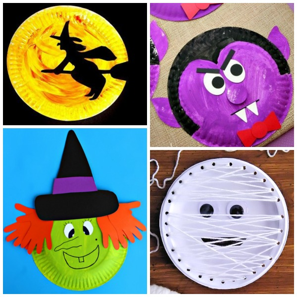 20 BOO-tiful PAPER PLATE CRAFTS FOR KIDS- these are adorable!