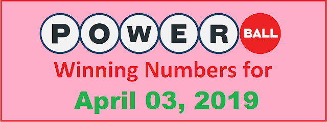 PowerBall Winning Numbers for Wednesday, 03 April 2019