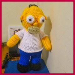 Homer amigurumi
