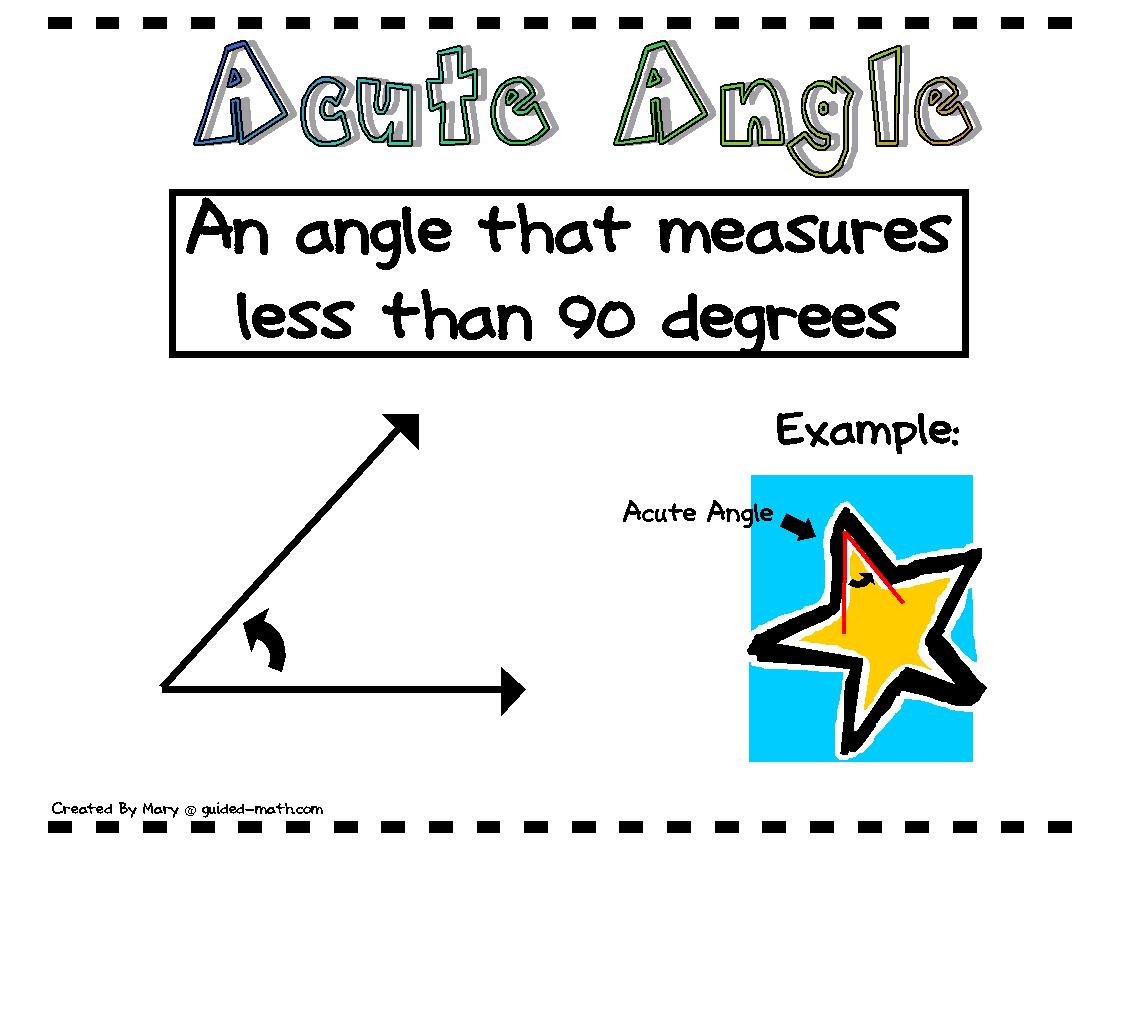 Guided Math Angle Posters