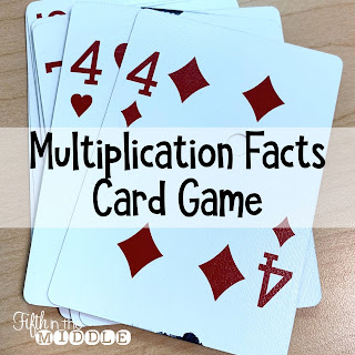 Multiplication fact card game similar to UNO