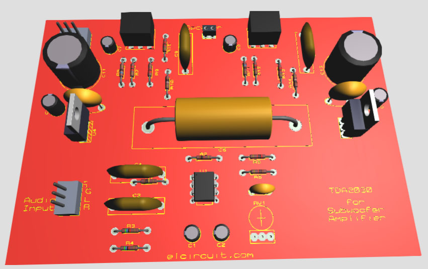 Tda2030 Make For Subwoofer Amplifier Circuit Electronic