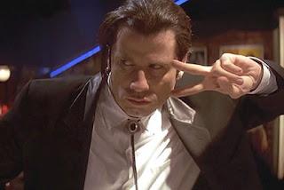 John Travolta as Vincent Vega, Pulp Fiction
