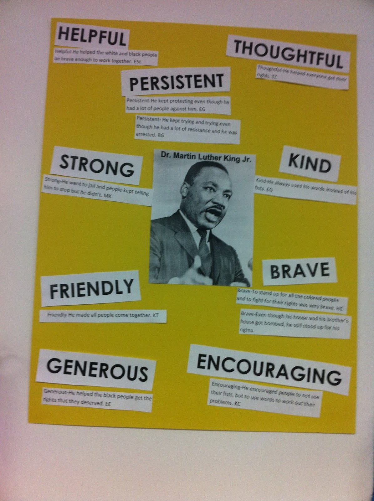 The Fabulous First Grade Mlk Day And Character Traits