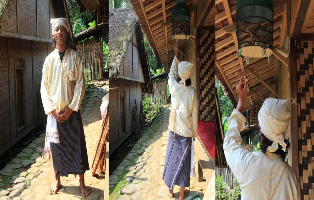 Pakaian adat Suku Baduy Dalam