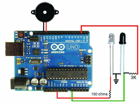 Robotix: How to Use IR LED and Photodiode with Arduino