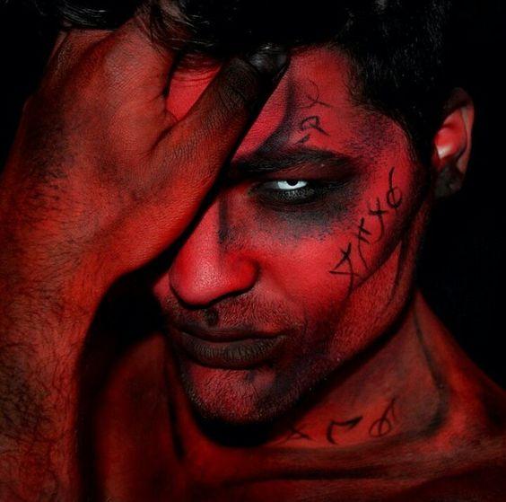maquiagem masculina demon