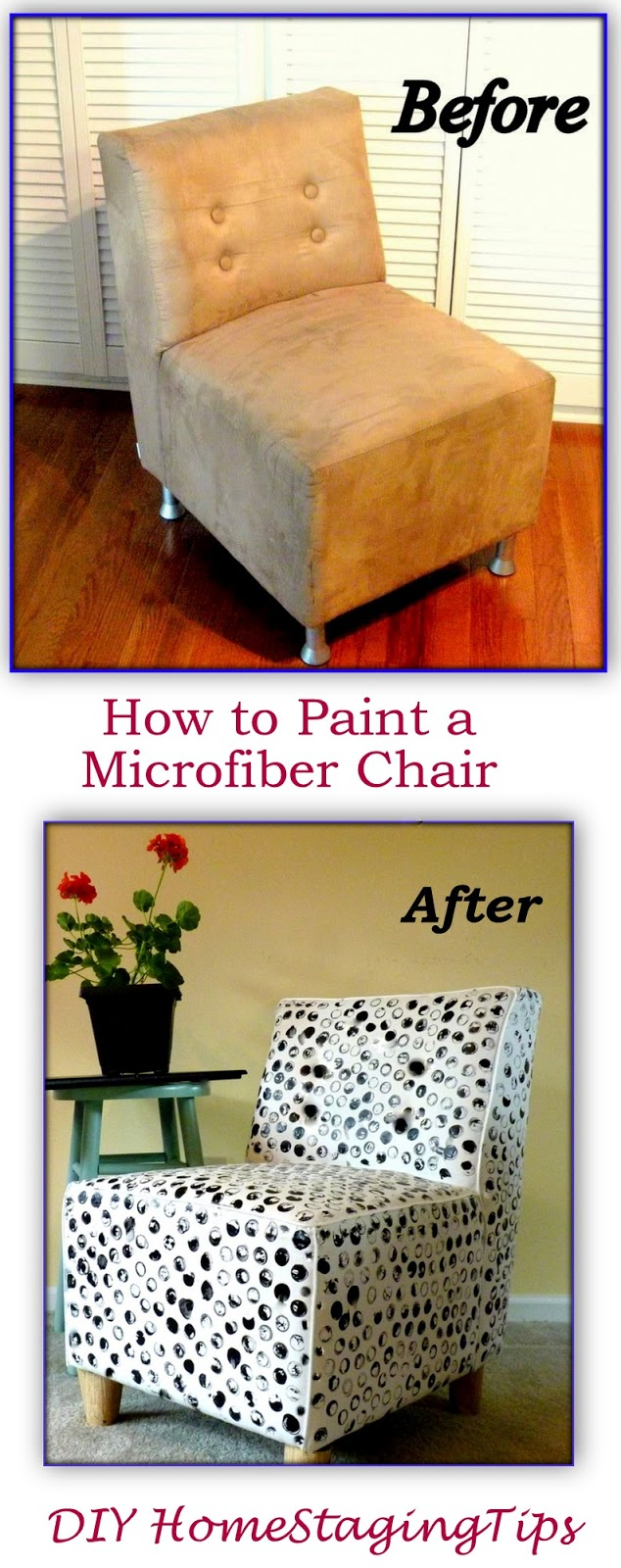 Diy home staging tips how to beautify an ugly microfiber for Diy home staging ideas