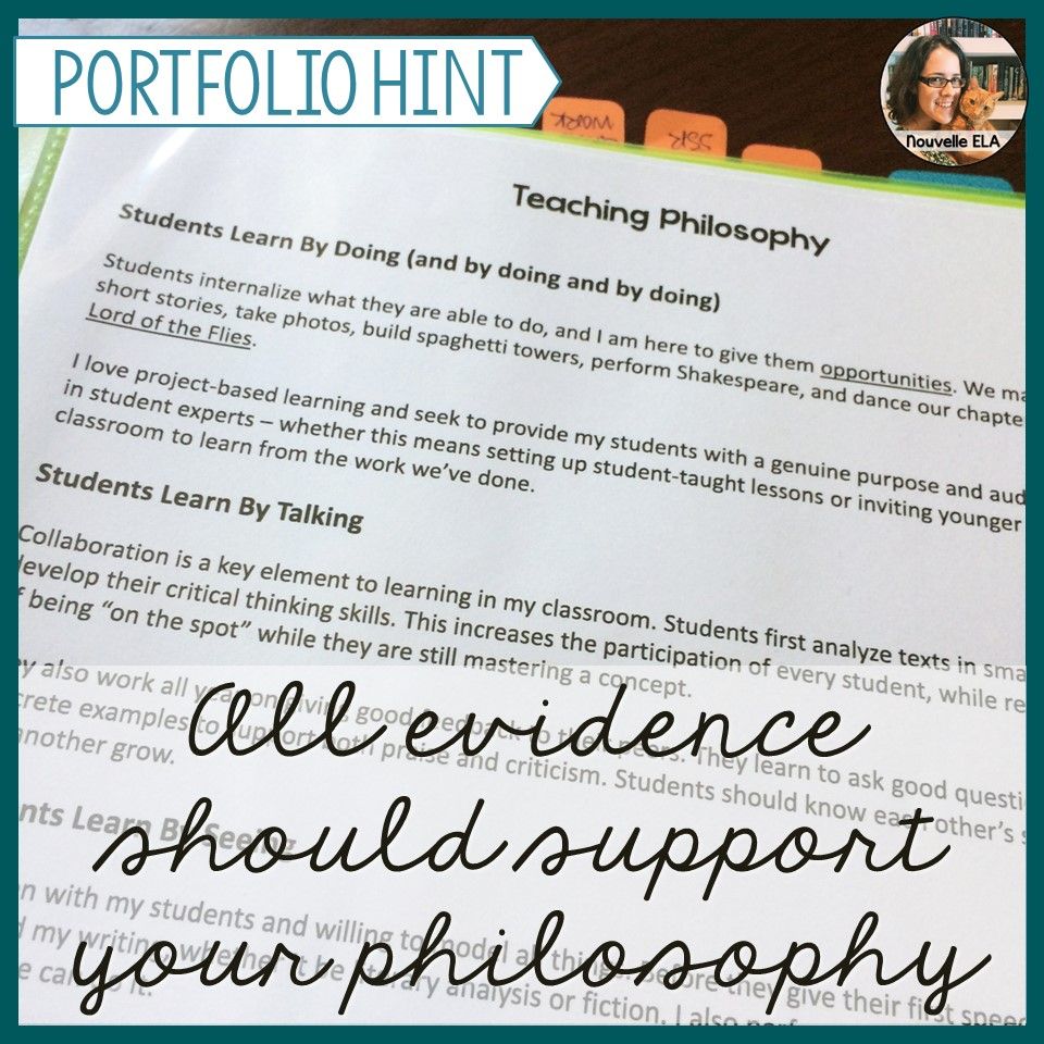 how to write a work philosophy in a portfolio