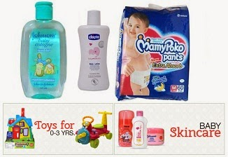 Baby Care Products:  Get Rs.130 Extra Discount on Min Cart Value of Rs.750 @ Babyhugz