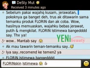 testimoni Florin skin care