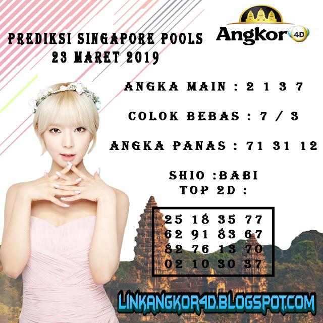 PREDIKSI SINGAPORE POOLS 23 MARET 2019