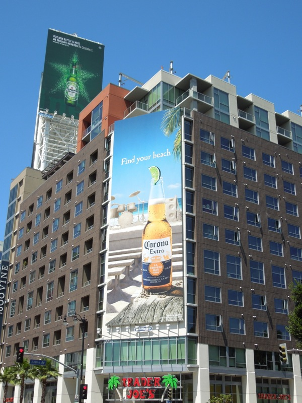 Find your beach Corona billboard