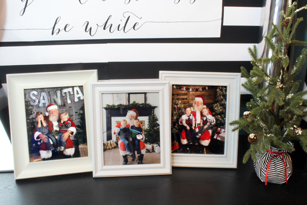 Modern Santa Photos on Display
