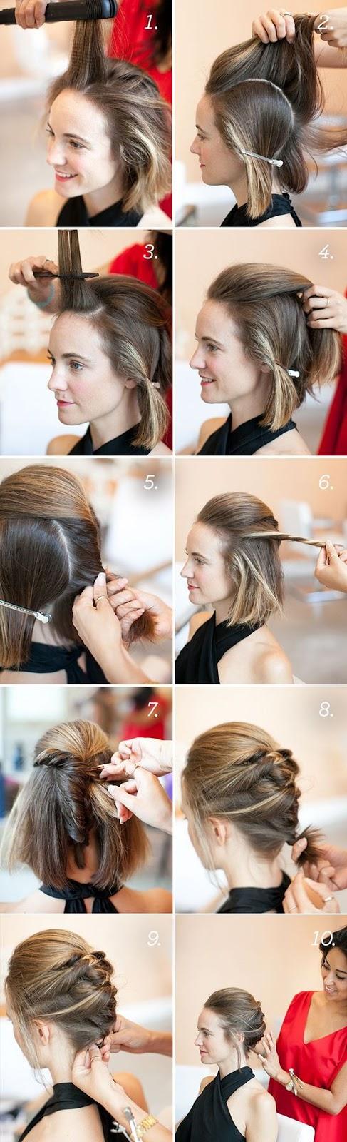 Tremendous Updos For Short Hair 7 Handpicked Short Hair Updo Tutorials Hairstyles For Men Maxibearus