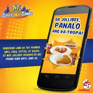 Talk N Text Rewards - Free Jollibee Yum Burger, Spaghetti and Chicken Joy
