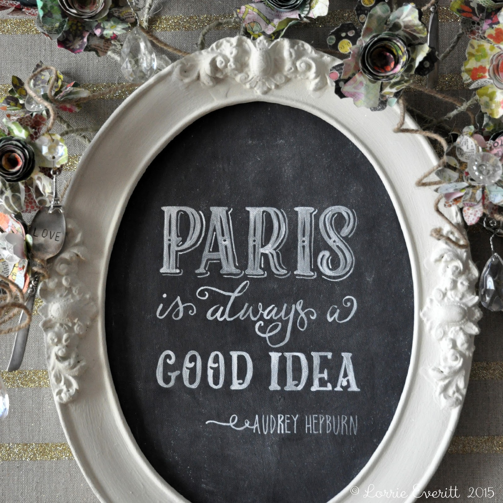 Michaels' Springtime in Paris contest | Lorrie Everitt Studio #SpringtimeInParis