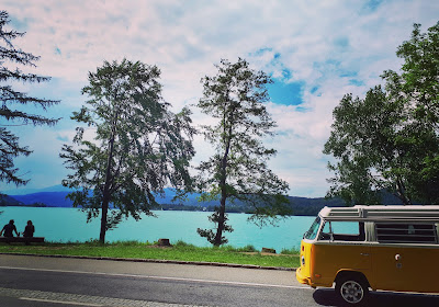 Vanlife T2 Westfalia Road trip calendar worthersee Austria