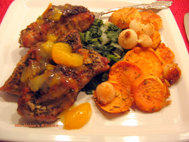 Herb Crusted Ribs with Orange Sauce at Miz Helen's Country Cottage