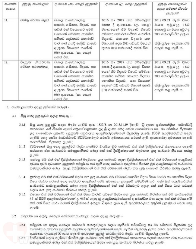 Recruitment of the Trainees for the Training Courses of the