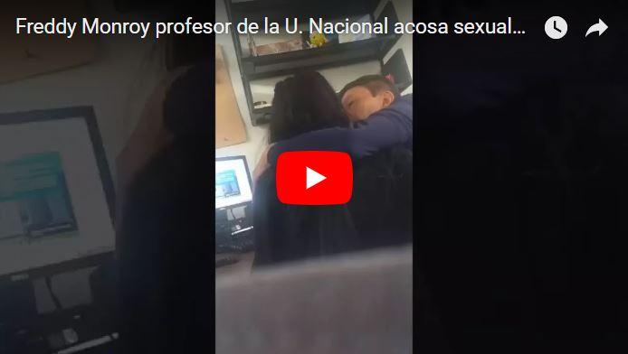 Una estudiante grabó a su profesor mientras la manoseaba a cambio de buenas notas