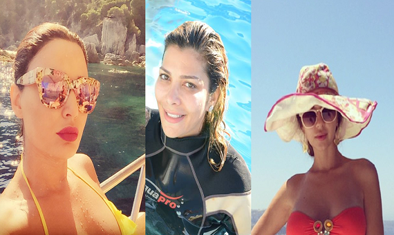 Top 6 Women Celebs Arabs escaped from heat bikini and sea