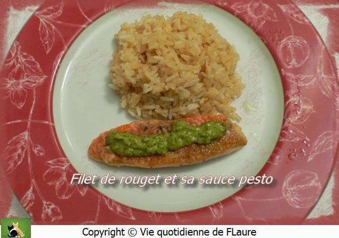 Vie quotidienne de FLaure: Filet de rouget et sa sauce pesto